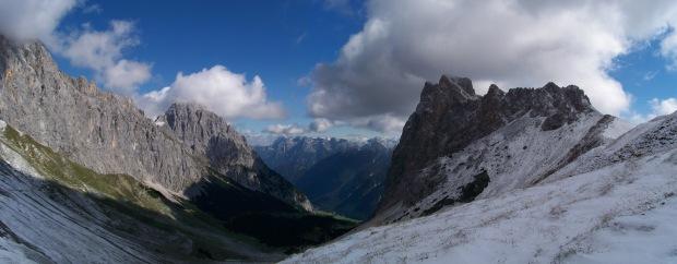 Am Scharnitzjoch, Blick gen Nordosten ins Puittal