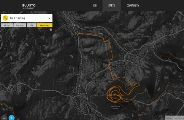 Suunto movescount Heatmap -Stand 10/2016